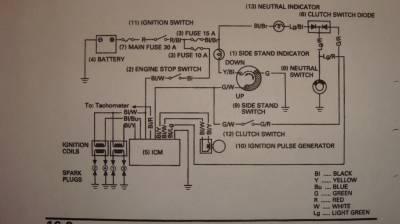 схема honda VF750C