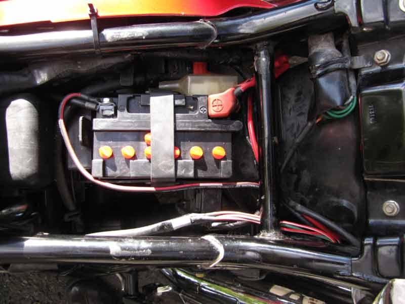 аккумулятор, проводка VF750