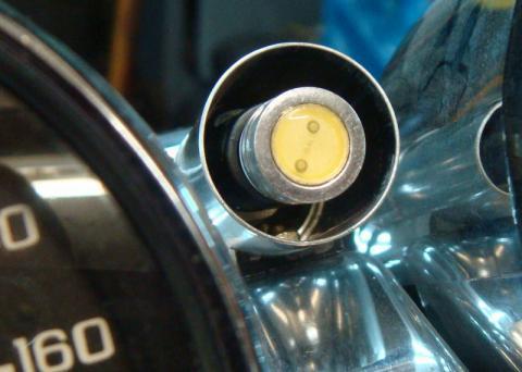 Самодельный сигнализатор переключения скоростей на Магну вид с торца