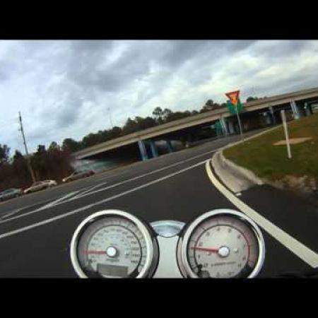 Kawasaki Mean Streak 120 mph (First Video with Drift Stealth)